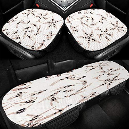 Yuniker Swinmming Diving Girl Car Ice Cushion Universal Car Seat Protector Soft Cool Bottom Seat Covers 3 Pcs Non-Slip Cushion Mats for Car Truck SUV Van Mpv