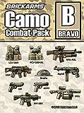 BrickArms Camo Combat Pack Bravo | Custom Set de armas | Compatible con figuras Lego®