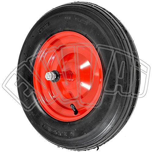 Rad mit Luftreifen, 350 x 80 mm, 2 PR, für Schubkarren, Reifen + Felge + Schlauch
