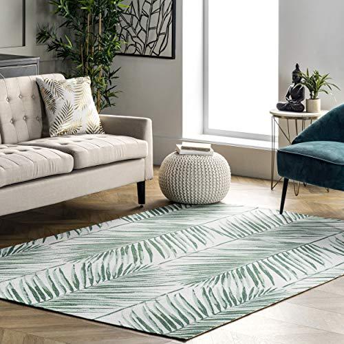 nuLOOM Tropical Palm Indoor/Outdoor Area Rug, 5' x 8', Green