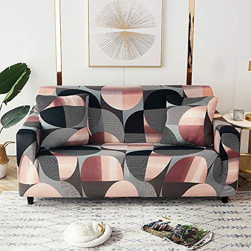 Fundas elásticas geométricas para sofá, Fundas elásticas para sofá para Sala de Estar, Funda para sofá, Silla, Funda para sofá, decoración del hogar, A12, 4 plazas