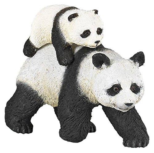 Papo 50071 Panda mit Jungtier WILDTIERE DER Welt Figur, Mehrfarben
