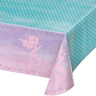 Iridescent Mermaid Party Plastic Tablecloths, 3 ct