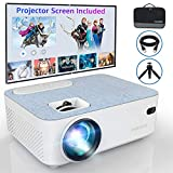 FANGOR M-206 Mini Bluetooth Projector, 4500 Lux Support Full HD 1080P, 50000 Hours
