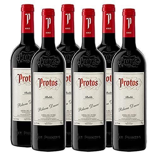 Vino Tinto Protos Roble de 75 cl - D.O. Ribera del Duero - Bodegas Protos (Pack de 6 botellas)