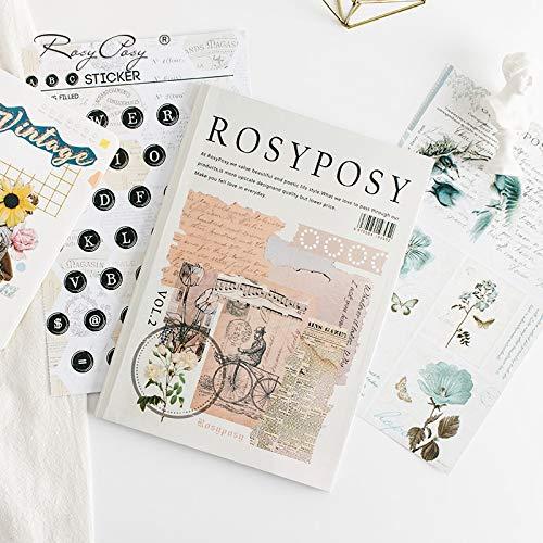 BLOUR Rosy Posy Life Zhi Hand Account Material Book Dos Temporadas Almacenamiento...