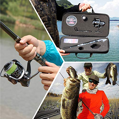 Sougayilang Fishing Rod Combos with Telescopic Fishing Pole Spinning Reels Fishing Carrier Bag for Travel Saltwater Freshwater Fishing-1.8M/5.91FT