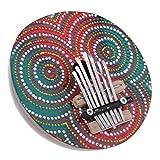 HomeDecTime Piano de Pulgar Kalimba de 7 Teclas de Madera para Viajes de Campamento de Fiesta