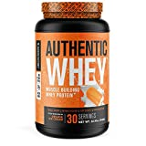 Authentic Whey Muscle Building Whey Protein Powder - Low Carb, Non-GMO, No Fillers, Mixes Perfectly - Orange Cream Flavor