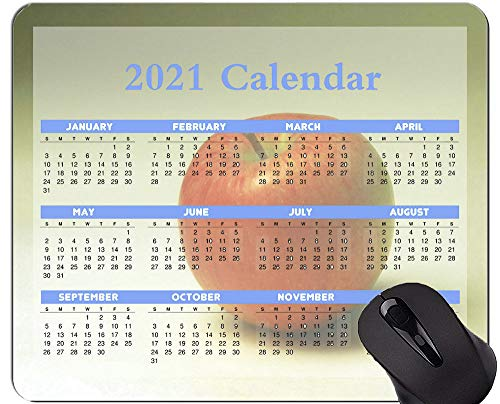 Kalender 2021 Jahr Mauspad Personalisiert, Obst Thema Hintergrund Mauspads