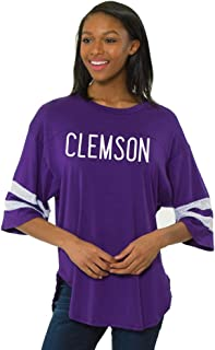 Flying Colors Women's Clemson Tigers Short Sleeve Jersey w/Mesh Insets