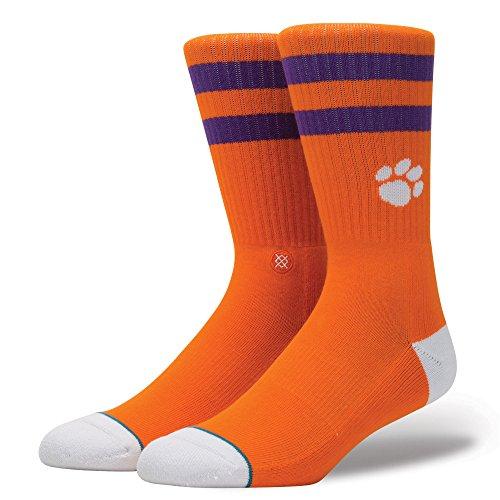 Stance Mens Clemson Socks Large Orange