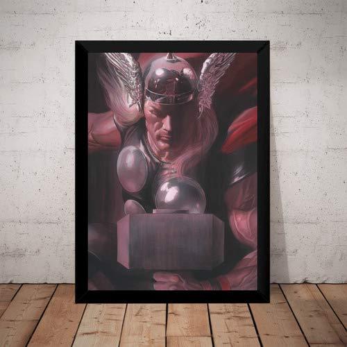 Quadro Thor Marvel Hq Arte De Alex Ross