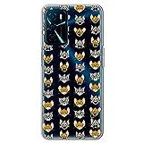 Movilshop Funda para [ OPPO A16 / A16s ] Tom y Jerry Oficial [Expresiones] Warner Bros de Silicona Flexible Transparente Carcasa Case Cover Gel para Smartphone.
