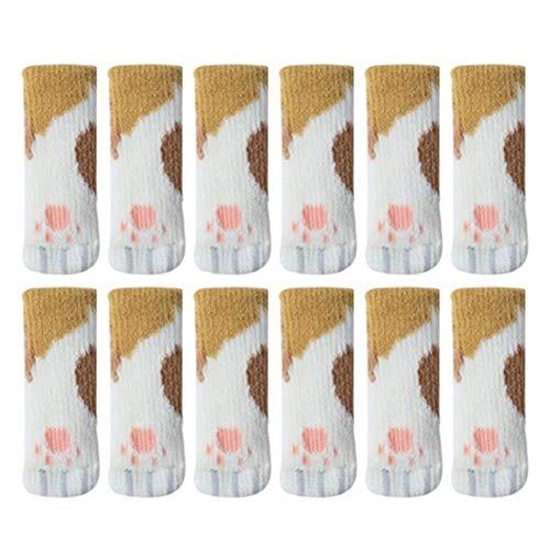 Raburt - Set di 24 calzini antiscivolo per sedia a sdraio, alta elasticità