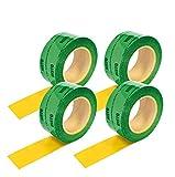 4ruedas (60mmx25m) cinta adhesiva verde Vapor freno cortavapor Barrera de vapor