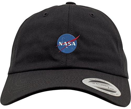 Mister Tee NASA Dad Cap Dadcap, Black, One Size