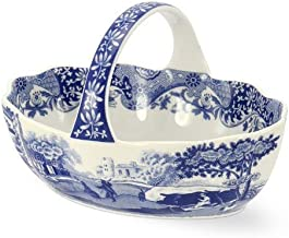 SPODE BLUE ITALIAN Small handled basket 6 by Spode