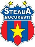 Steaua Bucuresti FC Romania Soccer Football Alta Calidad De Coche De Parachoques Etiqueta Engomada 10 x 12 cm