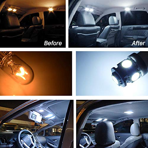 iJDMTOY Premium SMD LED Lights Interior Package Combo Compatible With 2008-2012 Mercedes-Benz W204 C250 C300 C350 C63 AMG C-Class Sedan, Xenon White