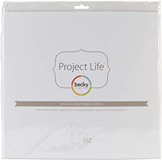 Becky Higgins 380004 Project Life Photo Pocket Page Protector-12 x Design A (12 Piece)