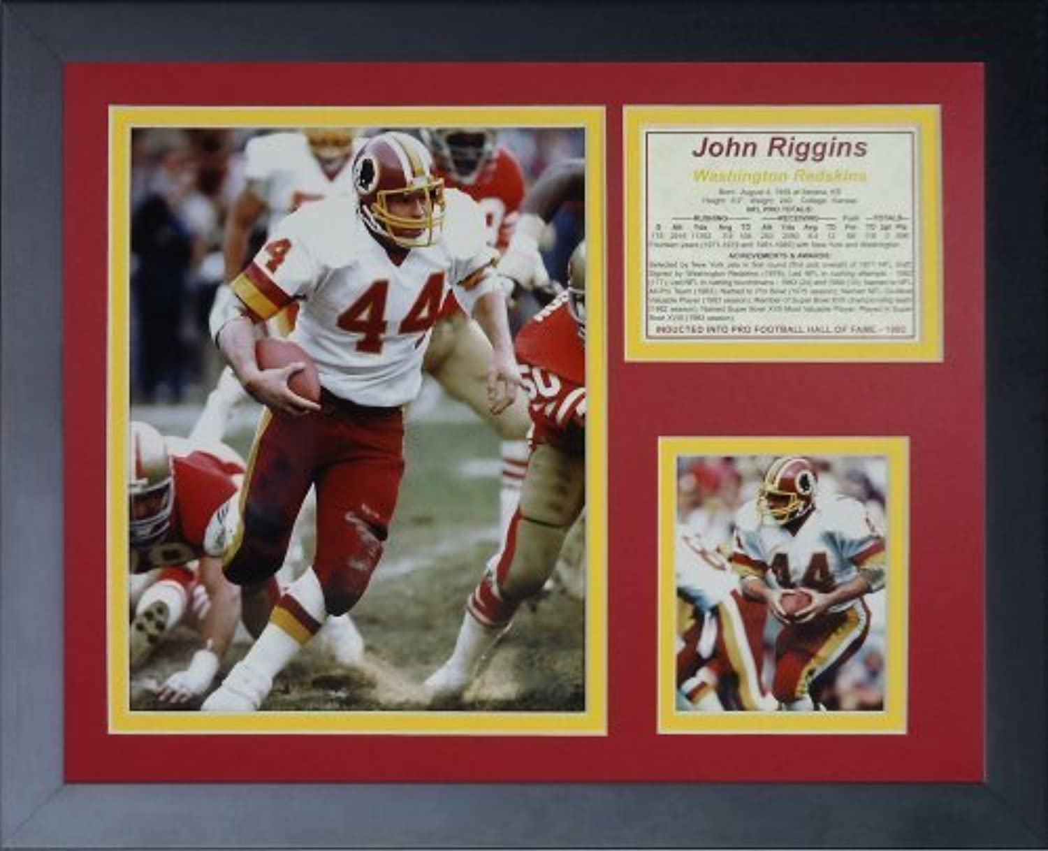 Legenden Sterben Nie John Riggins gerahmtes Foto Collage, 11x 35,6cm von Legends Never Die
