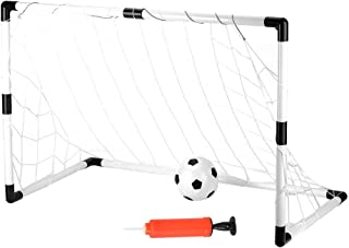 Barns fotbollsmål postnät, bärbar hopfällbar ungdomsmål uppsättning, barnsporter fotbollsmål nät för barn inomhus och utom...