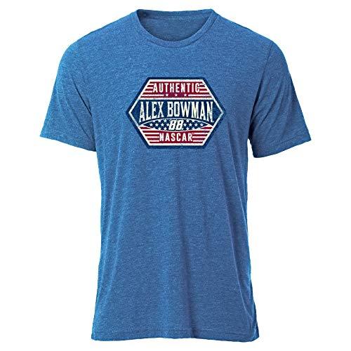 Ouray Sportswear Herren NASCAR Tri Blend S/S Tee Alex Bowman, Vintage Royal Blue, Medium