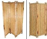 Biombo de bambú amarillo, 180 x 180 cm, 3 piezas, biombo separador de espacios móvil