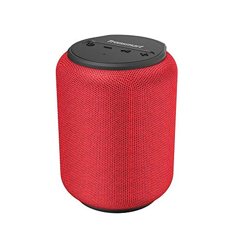 Bluetooth Lautsprecher 5.0, Tronsmart T6 Mini 15W Tragbarer Lautsprecher, 24-Stunden-Spielzeit, 360° TWS Stereo Sound, IPX6 wasserdicht, Unterstützung für TF/Micro-SD-Karte, Sprachassistent, Alexa-Rot