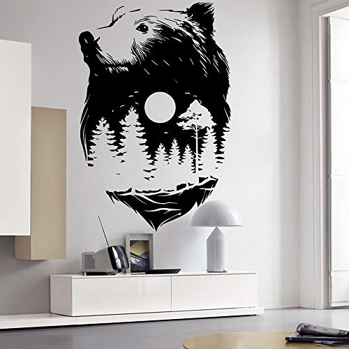 Modeganqingg Cartoon bär Wald wandaufkleber Schlafzimmer kinderzimmer große Tier Baum wandtattoo...