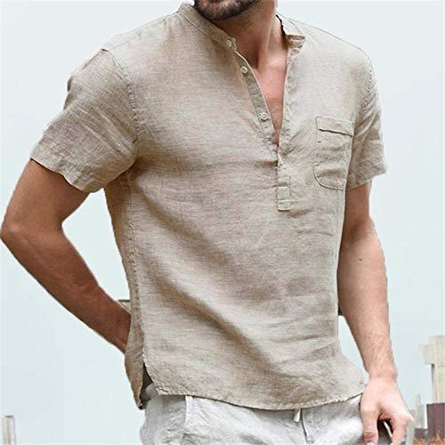 Nueva Camisa de Primavera para Hombre, Color sólido, Manga