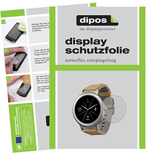 dipos I 6X Schutzfolie matt kompatibel mit LG Watch Style Folie Bildschirmschutzfolie
