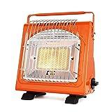 Calentador portátil Multifuncional Tipo de Cassette Interior Cáquico de Gas licuado for Campo de Camping al Aire Libre Camping Calentador de Coche (Color : Orange)