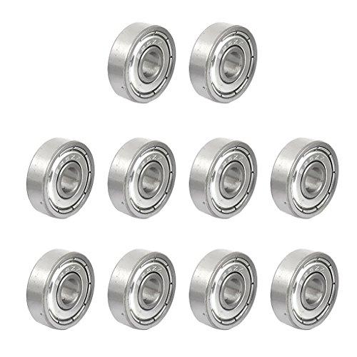 SunniMix Rodamientos De Bolas En Miniatura De Metal 10 X 8 X