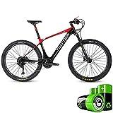 LZMXMYS Bicicleta eléctrica, bicicleta de montaña eléctrica híbrida moto de nieve 27,5 pulgadas adultos de ultra pedal de bicicleta luz 36V10Ah batería incorporada de litio (5 archivos / 11 la velocid