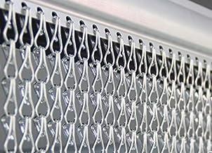 Marwotec Verbindungselemente Kettinggordijn, deurgordijn, 90 x 200 cm, aluminium vliegengordijn, terrasdeur, vliegenscher...