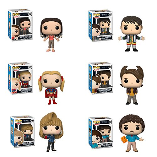 Funko Pop Friends Rachel Green, Ross Geller, and Chandler Bing, Phoebe Buffay, Monica Geller, Joey Tribbiani