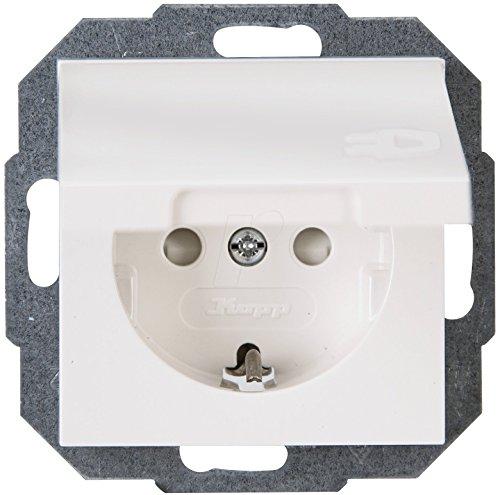 Kopp stopcontact met klapdeksel