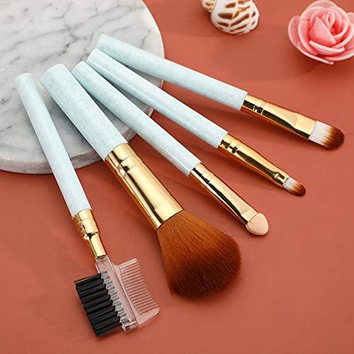 5 paquets de pinceaux de maquillage pour débutants barre courte ombre à paupières peigne à cils pinceau blush outils de beauté portables-vert