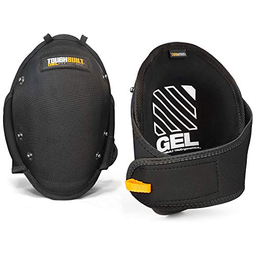 ToughBuilt - Gelfit ™ Professional Knee Pads - SnapShell ™ Compatible, Heavy Duty, Ergonomic Support and Adjustable Straps - (TB-KP-G2)