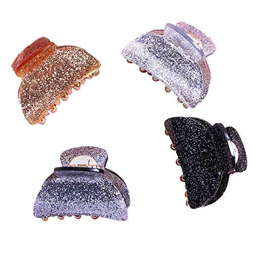 3 Pièces Pinces à Cheveux, de Cheveux Crabe en Acrylique Plastique Pince Griffe Ornement de Coiffure pour Femme Fille (4PCS)