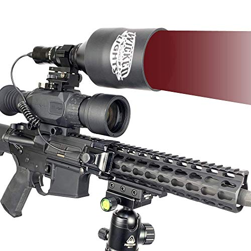 Wicked Lights W404iC 850nm Infrared Night Hunting Light Kit for Night Vision, hog, Coyote, varmint, and Predators