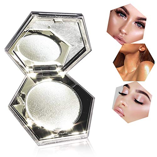 Highlighter Palette, Highlighter Powder, Highlighter Puder Palette, Make up highlighter, Diamond Highlighter Puder Palette, Brighten Hautfarbe Luminous Face Langlebiges Puder,Für Gesicht, Augen.