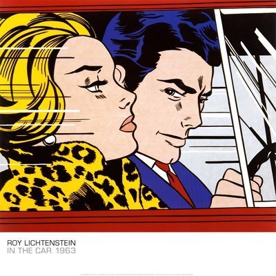 In the Car, c.1963 Art Poster Print by Roy Lichtenstein, 28x28 by Poster Revolution