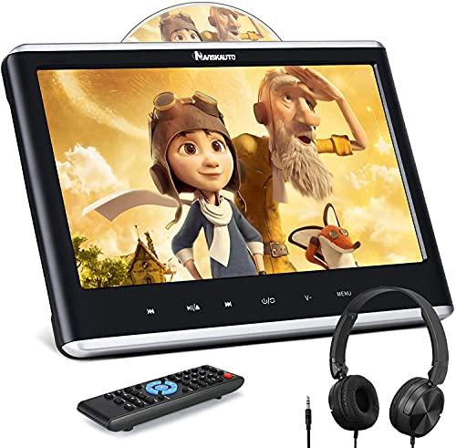 NAVISKAUTO 12' Car DVD Player with HDMI Input, Headphone, Mounting Bracket,...