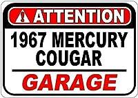 ブリキの看板196767 Mercury Cougar Attention Tin Sign Retro Vintage Sign for Home and Bar Wall Decor 8× 12インチ