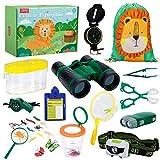 LBLA Kit Explorateur Enfant 27pcs,Jouet Enfant 3 Ans,Jeu Extérieur Jumelles Enfant...