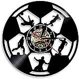 tjiaxu Disco de Vinilo Reloj de Pared Lámpara de Noche Colgante 7 Colores Fútbol Remoto Silueta Vintage Colgante Hecho a...