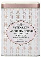 Harney & Sons, Iced Tea, Fresh Brew Herbal, Raspberry Herbal, 6 - 2 Quart Tea Bags, 3 oz